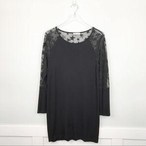 78a7631a111 Milan Kiss Star Shift Dress Black Size 3